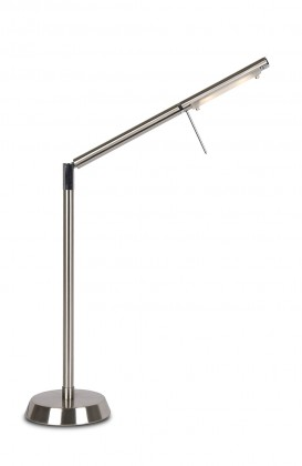 Nábytek Bergamo - lampička, G4 (stříbrná)