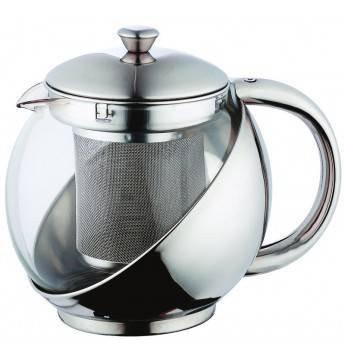 Nábytek Bergner - konvice na čaj 0,75L (stříbrná)
