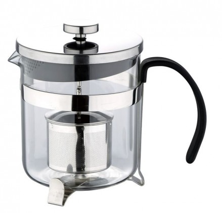 Nábytek Bergner - presovač čaj, káva, nerez (stříbrná)