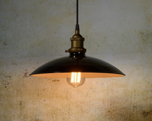 Nábytek Bistro - stropní osvětlení, 60W, E27 (černá)