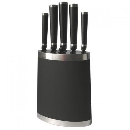 Nábytek Blok na nože 263360 (plast,ocel,černá)
