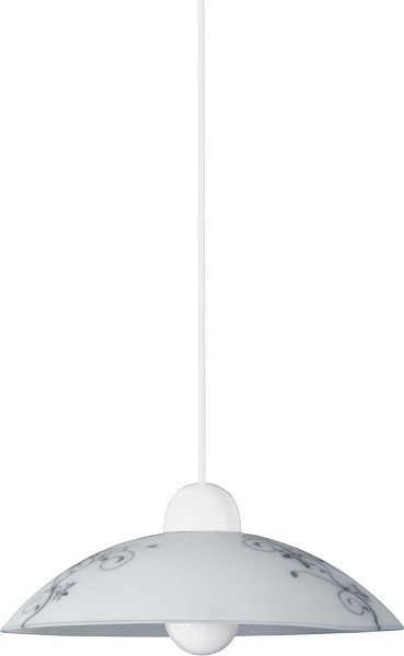 Nábytek Bloomy - Stropní osvětlení, E27 (bílá/černá)