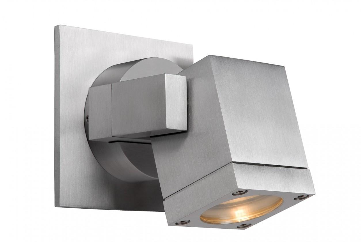 Nábytek Bok - nástěnné osvětlení, 35W, GU10 (stříbrná)