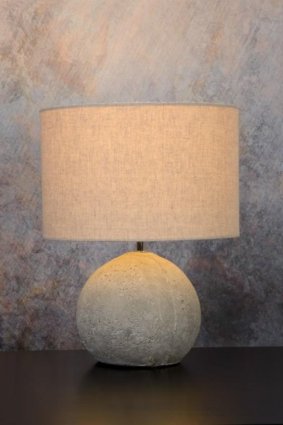 Nábytek Boyd - lampička, 60W, E27 (šedá)