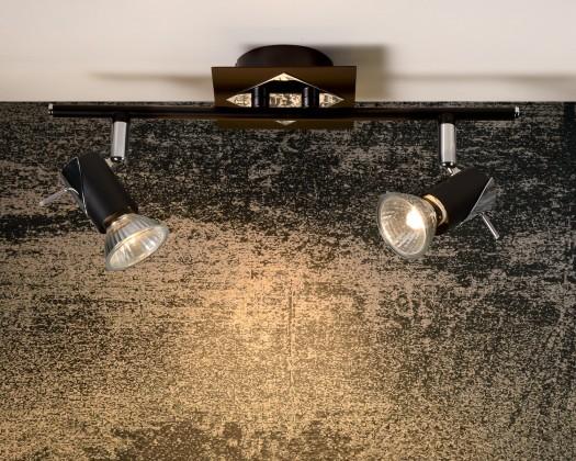 Nábytek Brackx - stropní osvětlení, 50W, GU10 (černá)