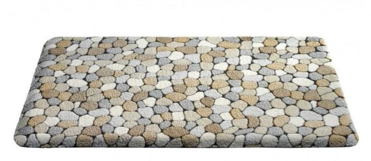 Nábytek Caresse - koupelnová předložka, 50x85 cm (dekor kamínků, béžový)