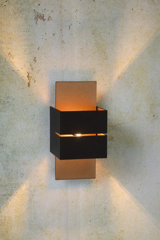 Nábytek Cubo - nástěnné osvětlení, 40W, G9 (černá)