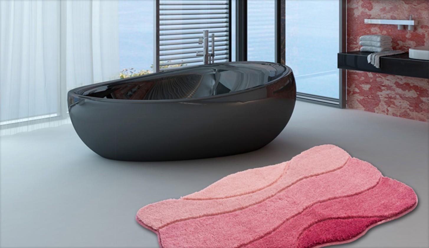 Nábytek Curts - Koupelnová předložka 60x100 cm (růžová)