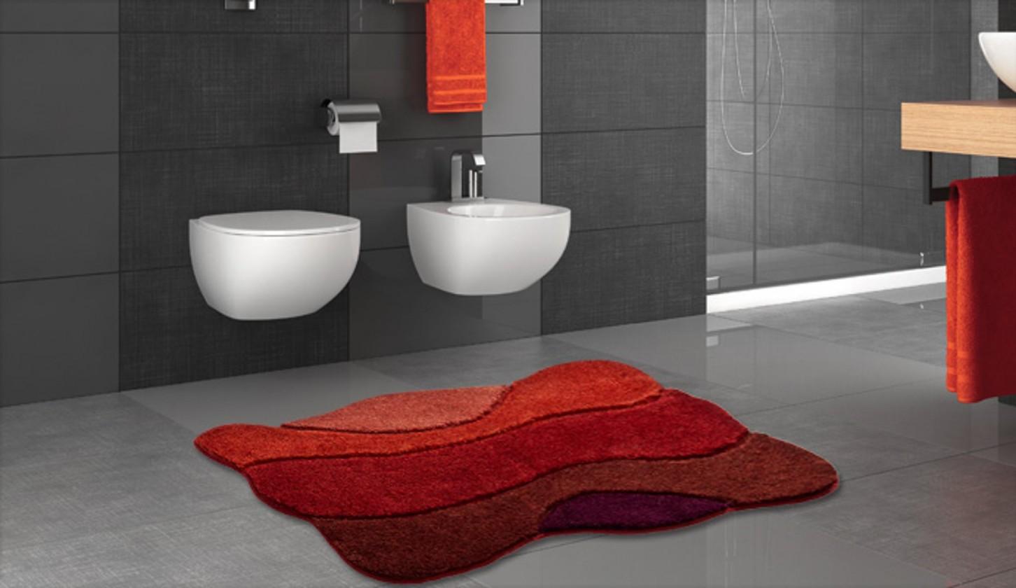 Nábytek Curts - Koupelnová předložka 80x140 cm (teplá červená)