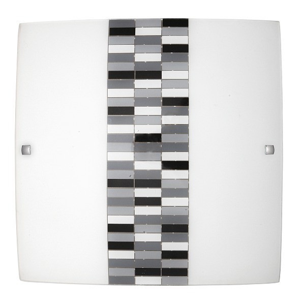 Nábytek Domino - Nástěnná svítidla, E27 (opálové sklo/černá)