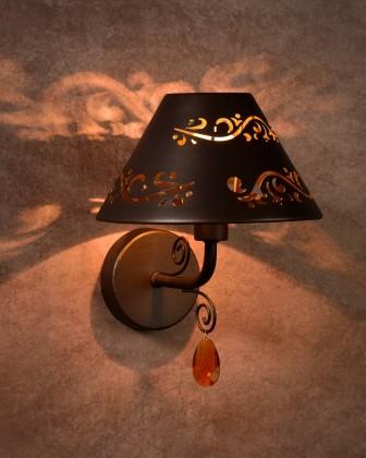 Nábytek Dorint - nástěnné osvětlení, 40W, E14 (bronzová)