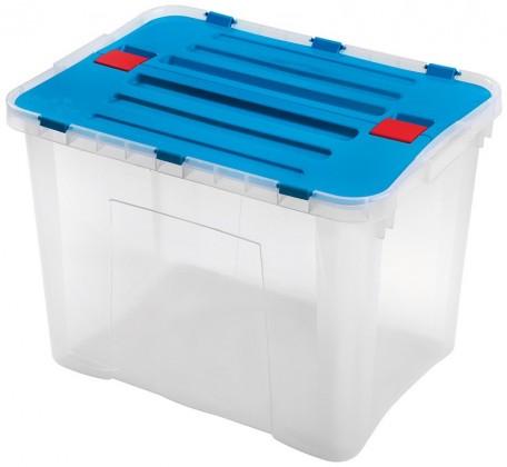 Nábytek Dragon - Box 42 l (transparentní, modrá)