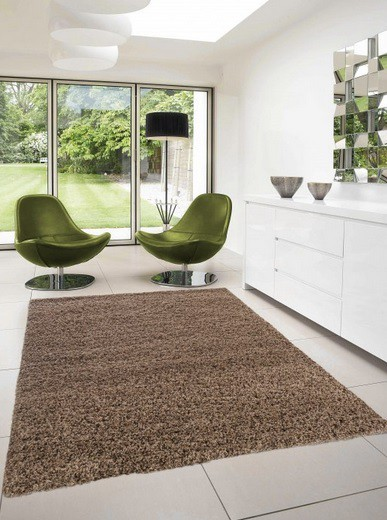 Nábytek Dream Shaggy - koberec, 110x60cm (100%PP shaggy, světle hnědá)