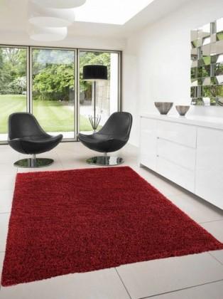 Nábytek Dream Shaggy - koberec, 150x80cm (100%PP shaggy, červená)