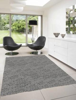 Nábytek Dream Shaggy - koberec, 170x120cm (100%PP shaggy, šedá)