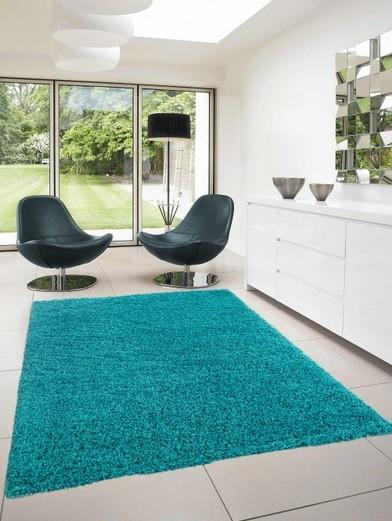 Nábytek Dream Shaggy - koberec, 170x120cm (100%PP shaggy, tyrkysová)