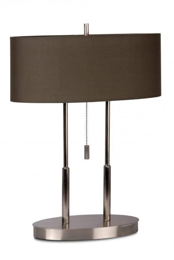 Nábytek Elips - lampička, 40W, 2XE14 (stříbrná)