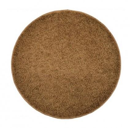 Nábytek Elite Shaggy - koberec, 160x160 (100%PP shaggy, kulatý, hnědá)
