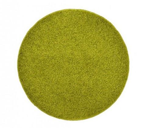 Nábytek Elite Shaggy - koberec, 160x160 (100%PP shaggy, kulatý, zelená)
