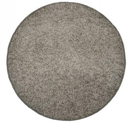 Nábytek Elite Shaggy - koberec, 200x200 (100%PP shaggy, kulatý, šedá)