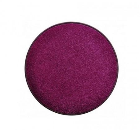 Nábytek Eton - koberec, 100x100cm (100%PP, kulatý, fialová)