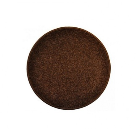 Nábytek Eton - koberec, 100x100cm (100%PP, kulatý, hnědá)