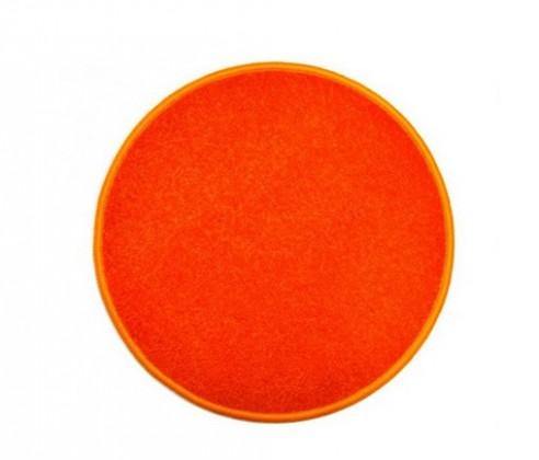 Nábytek Eton - koberec, 100x100cm (100%PP, kulatý, oranžová)