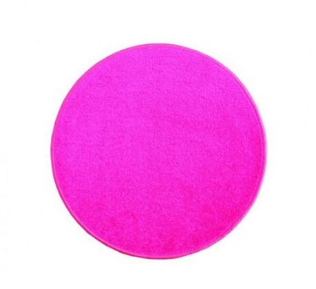 Nábytek Eton - koberec, 100x100cm (100%PP, kulatý, růžová)