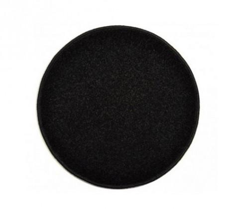 Nábytek Eton - koberec, 120x120cm (100%PP, kulatý, černá)