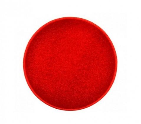 Nábytek Eton - koberec, 120x120cm (100%PP, kulatý, červená)