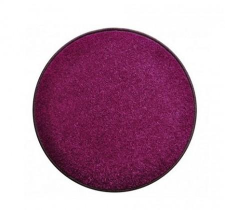 Nábytek Eton - koberec, 120x120cm (100%PP, kulatý, fialová)
