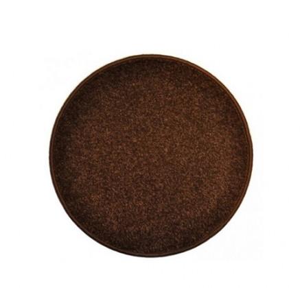 Nábytek Eton - koberec, 120x120cm (100%PP, kulatý, hnědá)