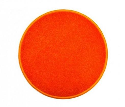 Nábytek Eton - koberec, 120x120cm (100%PP, kulatý, oranžová)