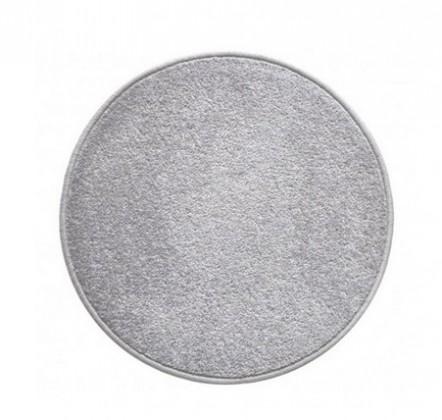 Nábytek Eton - koberec, 120x120cm (100%PP, kulatý, šedá)