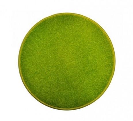 Nábytek Eton - koberec, 120x120cm (100%PP, kulatý, zelená)