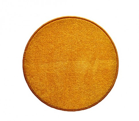 Nábytek Eton - koberec, 120x120cm (100%PP, kulatý, žlutá)