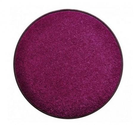 Nábytek Eton - koberec, 160x160cm (100%PP, kulatý, fialová)