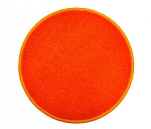 Nábytek Eton - koberec, 160x160cm (100%PP, kulatý, oranžová)