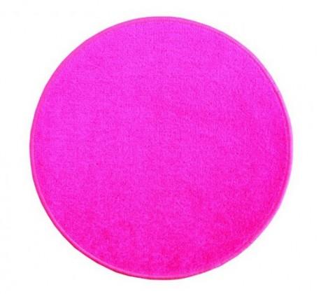 Nábytek Eton - koberec, 160x160cm (100%PP, kulatý, růžová)