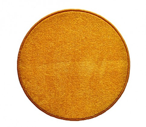 Nábytek Eton - koberec, 160x160cm (100%PP, kulatý, žlutá)