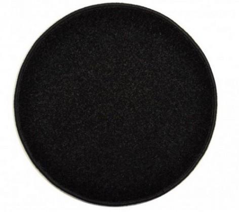 Nábytek Eton - koberec, 200x200cm (100%PP, kulatý, černá)
