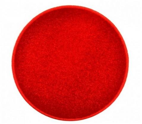 Nábytek Eton - koberec, 200x200cm (100%PP, kulatý, červená)