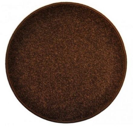 Nábytek Eton - koberec, 200x200cm (100%PP, kulatý, hnědá)