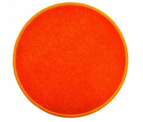 Nábytek Eton - koberec, 200x200cm (100%PP, kulatý, oranžová)