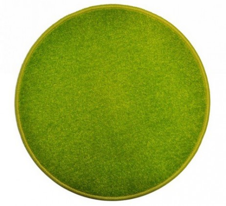 Nábytek Eton - koberec, 200x200cm (100%PP, kulatý, zelená)