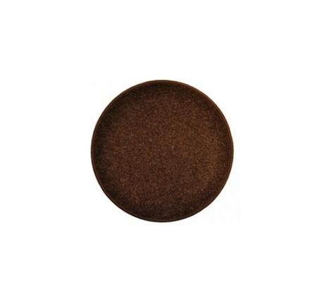 Nábytek Eton - koberec, 57x57cm (100%PP, kulatý, hnědá)