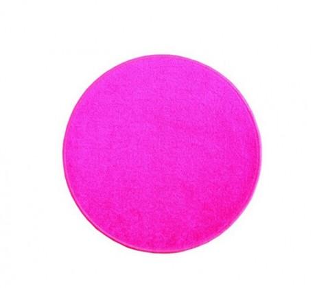 Nábytek Eton - koberec, 80x80cm (100%PP, kulatý, růžová)
