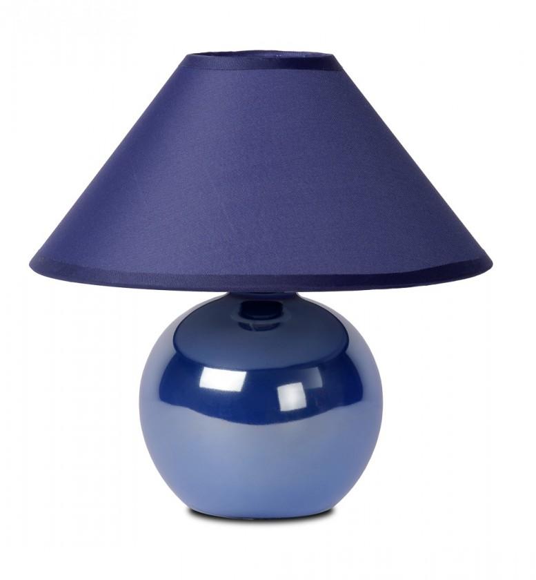 Nábytek Faro - lampička, 40W, E14 (modrá)