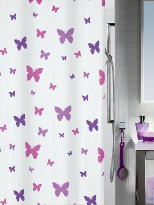 Nábytek Fly-Sprchový závěs 180x200 cm(fialová)