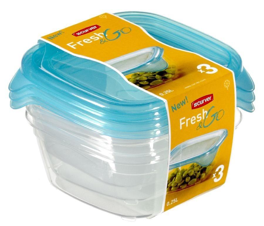 Nábytek Fresh&Go 3x0,25l (plast,modrá)